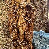 Antiguo Estatua De La Diosa Wiccan,Escultura Del Altar,Diosa Griega Estatua Mitología Madre Tierra Gaia Figuras Para Altar Casero Pagano Al Aire Libre Decoración,Estatua De Gaia-Lilith 9x3x22cm(4x1x9i