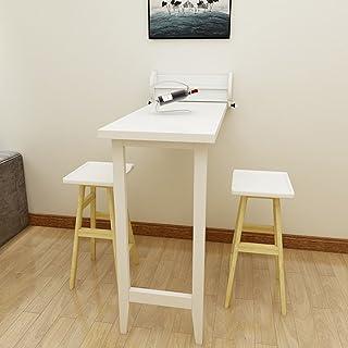 Dongy Table Pliante En Bois Massif Table De Salle à Manger Escamotable  Murale Bureau Pliable De