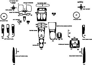 Rvinyl Rdash Dash Kit Decal Trim for Chevrolet Camaro 2010-2011 - Gloss (Yellow)