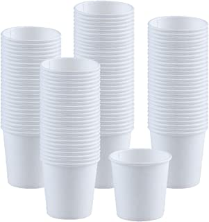 Kindpack Disposable Paper Cups 4oz Cup,100 Count,White Paper Hot Cups,Coffee Cup,Bathroom Cups,Single cup