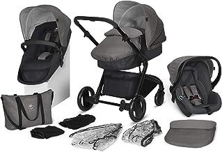 cbx 3-in-1 Kombikinderwagen-Set Bimisi Flex, 11-teilig mit Babyschale Shima, 2-in-1 Sitzeinheit mit Sportsitz und Babywanne, Comfy Grey