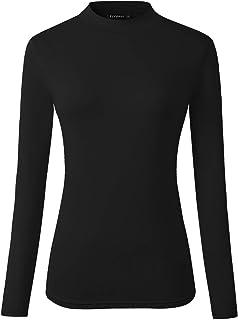 Veranee Women's Long Sleeve Slim Fit Turtleneck Basic Layering T-Shirt