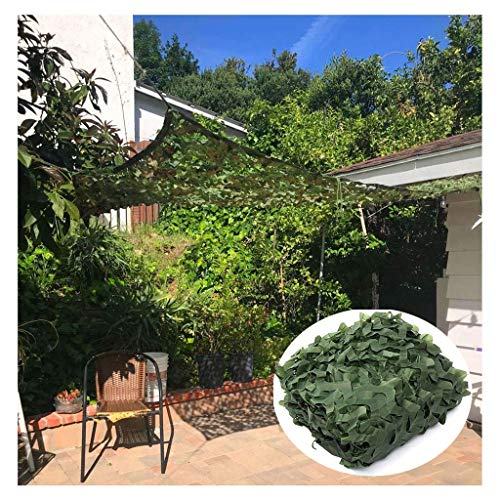 Camouflage Netting 2m X 3m Green Woodland Camo Net Large Size Polyester Sun Shading Net For Military Camping Hunting Jungle Outdoor Photographing Wildlife (Size : 3 * 5m (10 * 16ft))