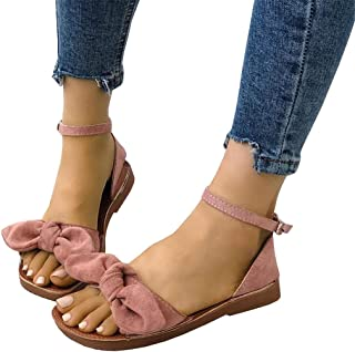 Womens Slides Flip Flops Cute Thong Strappy Slip on Bowknot Flat Sandals