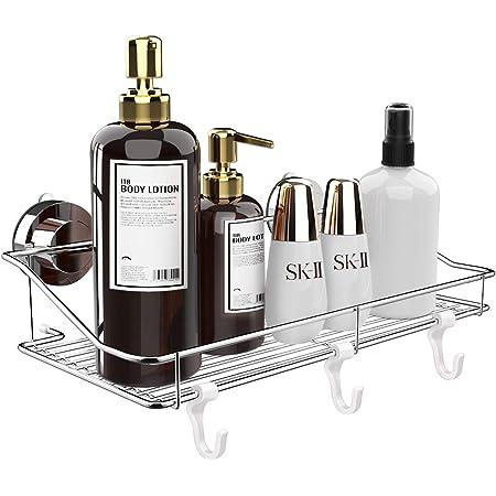 浴室用ラック 強力 吸盤 お風呂の壁に ステンレス シャワーラック 一年保証付き