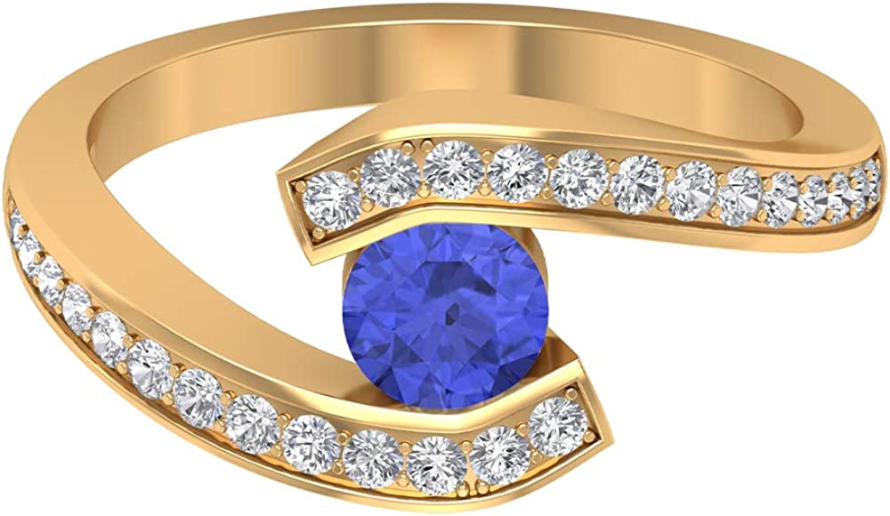 Tanzanite Solitaire Ring HI-SI Engagement Bypass Beauty products Diamond Sale Special Price