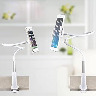 Wisfor Gooseneck Bed Phone Holder, 360°Flexible Tablet Mount Long Arm Phone Mount for Desk Lazy Mobile Phone Holder for ip...
