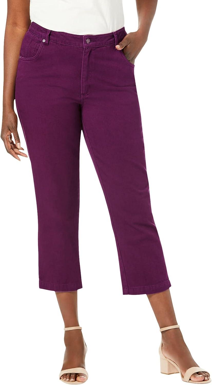 Jessica London Women's Plus Size Classic Denim Capri Jeans