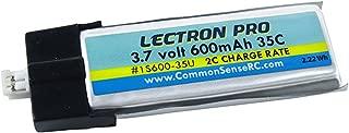 Lectron 1S600-35U 600mAh 1S 3.7V 35C LiPo Pack w/ UMX Connector : Glimpse FPV