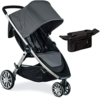 Britax B-Lively Lightweight Stroller, Dove with Organizer Bundle