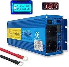 Mophorn 2000 Watt Wechselrichter Reine Sinuswelle 12V DC Zu 230V AC konverter mit Fernbedienung f/ür RV Truck Auto 2000W 12V