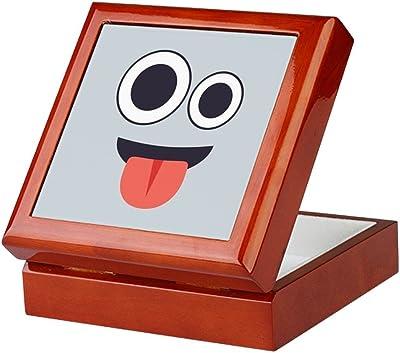 Amazon.com: CafePress Happy Emoji Face Keepsake Box ...