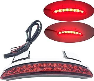 RED Chopped Fender Edge License Plate Brake Rear Tail Brake Stop Running Light For Harley Davidson Sportster