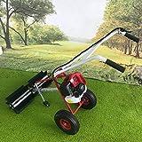 WINUS Handheld Sweeper, 52cc/43cc Gas Power Nylon Brush Sweeping Broom Driveway Turf Lawns Artificial Grass Power Brush Lawn Handheld Sweeper Cleaner Tools (43cc/ 1.25 kW, 1.7HP)