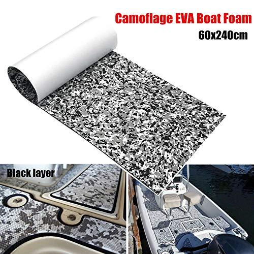 yuanjiasheng EVA Schuim Teak Decking Sheet Marine Vloeren Lijm Tapijt Zwart Grijs Camouflage Embossed Dot Non Skid Materiaal Mat 45x240cm/60x240cm/90x240cm