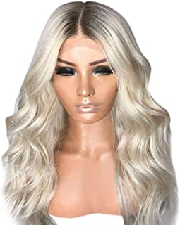 Hair Care Wig Stands Fibre Natural Wave Wig Long Curly Hair Mixed Colors Synthetic Wig Party Gradient Wigs Middle Parted S...