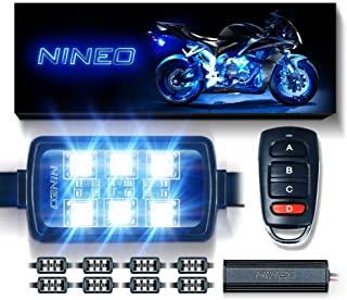 NINEO RGB چراغ راه راه چراغ کیت چند رنگ نئون w / کنترل از راه دور برای ATV UTV کروزر هارلی دیویدسون Ducati سوزوکی هوندا Triumph BMW کاوازاکی یاماها (بسته 8)