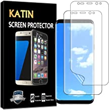 KATIN Galaxy S8 Plus Screen Protector - [2-Pack] [Full Max Coverage] Screen Protector for Samsung Galaxy S8 Plus (Case Friendly) HD Clear Anti-Bubble Film with Lifetime Replacement Warranty