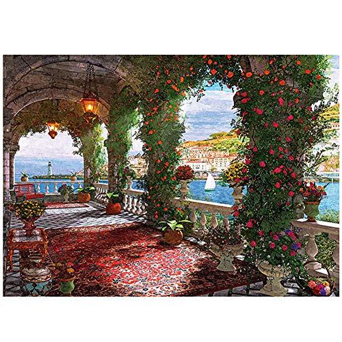 ZUOQUAN Puzzles, El Jardín De Rosas, con Sus Personas Favoritas, para Construir Su Jardín De Amor, Será Extremadamente Romántico, para Adultos, Niños Y Niñas, 1000 Rompecabezas