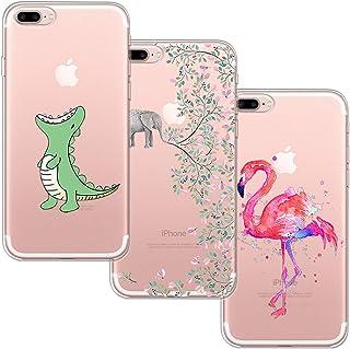 Blossom01 Funda para iPhone 7 Plus, iPhone 8 Plus, Funda de Silicona TPU Ultra Fina y Suave con Dibujos Animados para Appl...