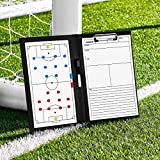 FORZA Pizarras de Tácticas para Entrenadores de Deportes – Incluye Marcadores Lavables (Variedad de Deportes) (Carpeta A4 para Entrenadores, Fútbol)