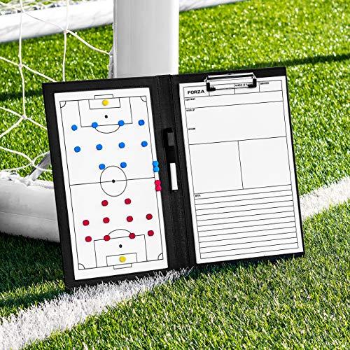 FORZA Pizarras de Tácticas de Fútbol   Pizarra Blanca para Entrenamientos (Incluye Marcadores Lavables) (Carpeta A4 para Entrenadores)
