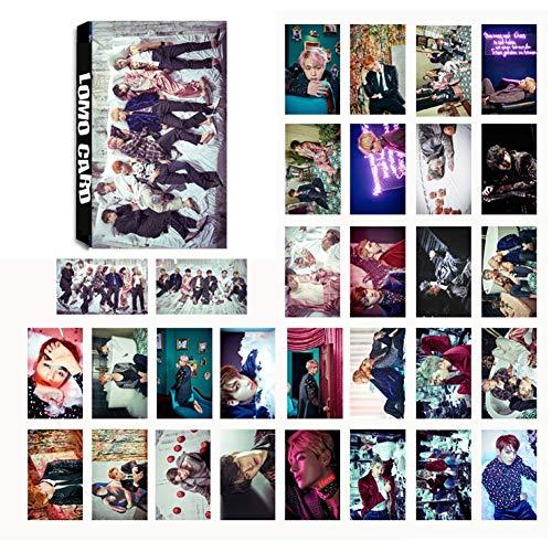 LLGL-EU 30 Pack Photocard/Fotokarten/Postkarte/Poster   Jungkook, Jimin, V, Suga, Jin, J-Hope, Rap Monster Bantanboys Band Members Fanartikel   Sammlung und Beste Geschenk für The Armee (No.06)