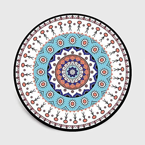 Super suave Alfombra antideslizante Alfombra durad Nordic geometría redonda puerta de la estera de la alfombra for la sala de estar Cuarto de niños Alfombras Alfombras dormitorio y sala de estar silla