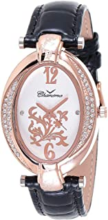 Charisma Women's Mother of Pearl Dial Leather Band Watch - C6152
