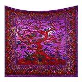 Future Handmade Wandteppich mit Mandala-Motiv, Galaxie, Stern, Sonne, Mond, Batik, Wandbehang, indischer, psychedelischer Hippie-Stil, Strandtuch, Überwurf, bohèmetypischer Stil