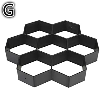 2019 New Gardening 8/9 Grids Pathmate Stone Mold Paving Concrete Stepping Pavement Paver Drop Shipping
