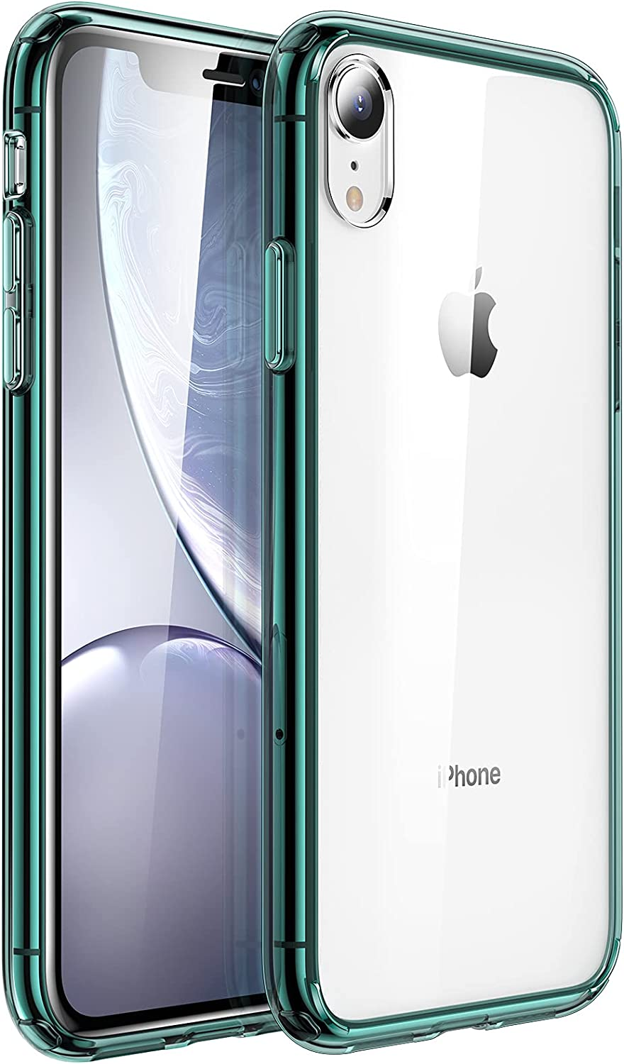 UNBREAKcable Phone Case for iPhone XR 6.1 Inch - [Anti-Yellow & Anti-Scratch] Ultra Clear Shockproof Hard PC Back & Soft TPU Bumper Protective Case for iPhone XR - Dark Green
