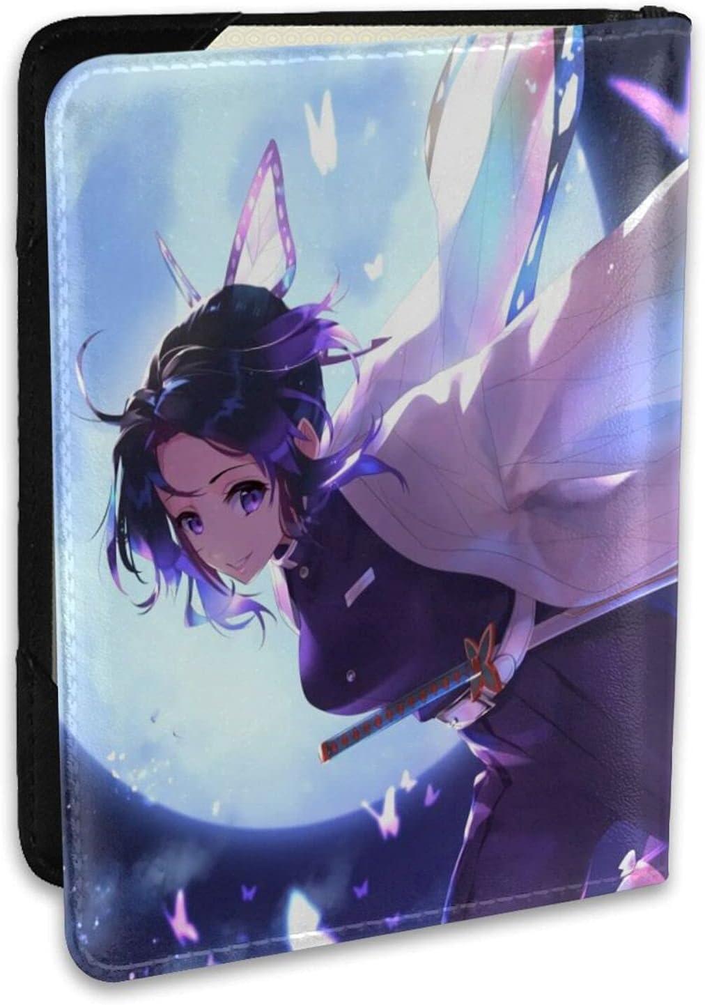Excellent Anime Demon Credence Slayer leather wallet wa card Shinobu credit Kochou