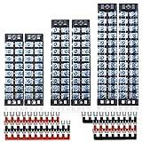 fixitok 6 pezzi barriera terminale a vite da 600v 25a morsettiera a doppia fila 8/10/12position con striscia a barriera 6 pezzi 400v 15v rossa e nera