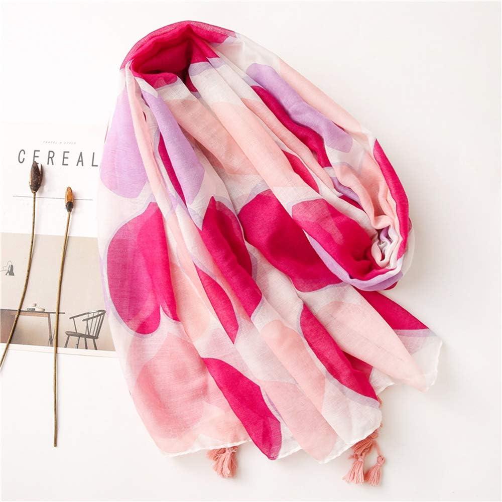 FEPITO Foulards en coton l/éger coeur Saint Valentin pour femme