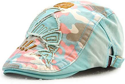 25fa961eb60 Roffatide Camo Fish Patch Newsboy Cap Cotton Flat Hat Girls Boys Beret Ivy  Irish Gatsby Cabbie