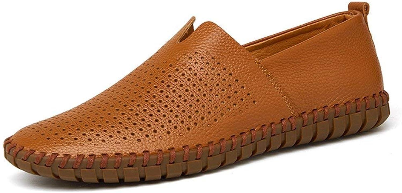 ZHRUI Mens Driving Schuhe aus echtem Leder Müßiggänger Schuhe Mode handgefertigte weiche atmungsaktive Mokassins Wohnungen Slipe On Schuhe (Farbe   braun Hollowed, Größe   842 EU)  | Toy Story