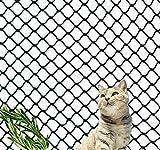 Kingt Red de protección universal de nailon para balcones, terrazas, gatos, puertas y ventanas, color negro (3 x 4 m)