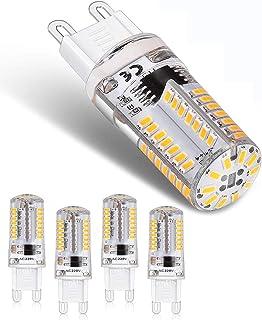 Lámpara LED 3W G9 230V 400 lúmenes 3000k luz LED blanca cálida Sin bombillas LED parpadeantes, no regulable en ángulo de 360 grados, lámpara halógena G9 de 30W de repuesto (paquete de 5)