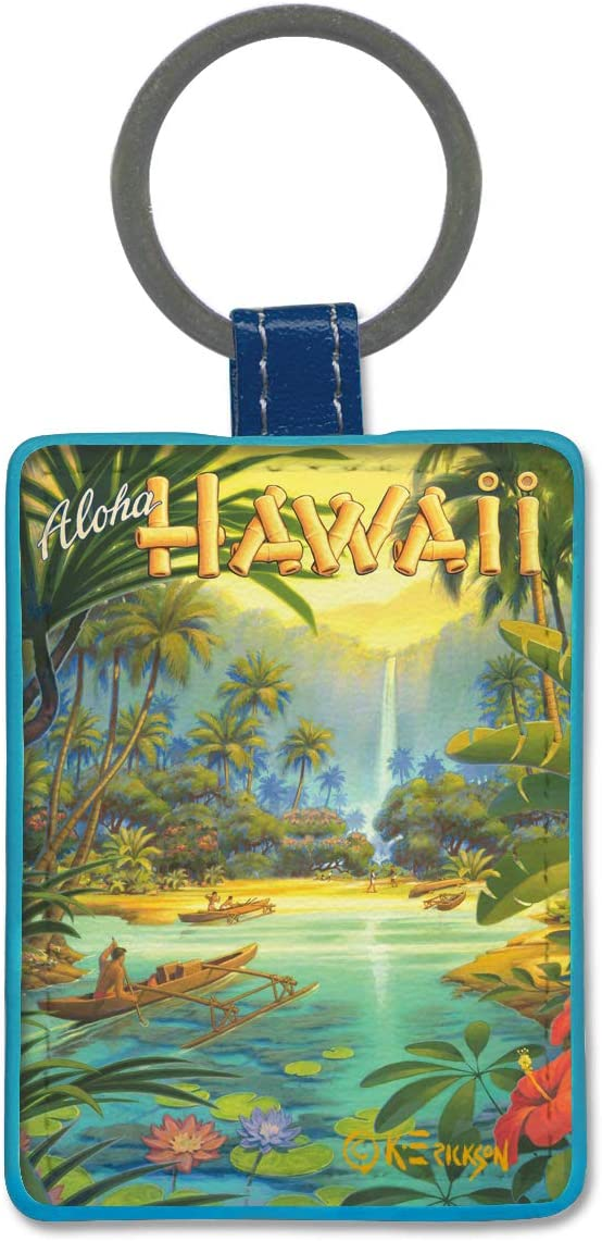 Pacifica Island Art Leatherette New life Cheap mail order shopping Keychain Hawaii by - Aloha from