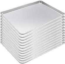 KITCHEN VENDOR Aluminum Baker Cookie Sheet pan, NSF certified, 26 x 18-Inch, Full Sheet (Pack of 12)