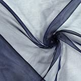 Fabulous Fabrics Organza – Navy — Meterware ab 0,5m —