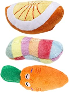 VILLCASE 3pcs Dog Squeaky Plush Toys Dog Chew Toys Pet Squeaky Toys Interactive Chewing Toys for Puppy Medium Dogs Toy Mix...