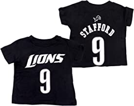 Outerstuff Matthew Stafford Detroit Lions Toddler Alternate Mainliner Name and Number T-Shirt
