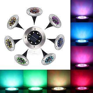 Lampe Solaire Exterieur 8 pack Pulchram LED Lumière Solaire Decoration Jardin Eclairage Etanche IP65, Blanc Chaud 8 LEDs S...