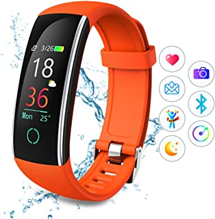 TPW Smart Watch Bluetooth Fitness Tracker C20 (2019) IP68 Waterproof Sport Watch Touch Control Smart Bracelet with Heart Rate Monitor, Step Counter, Multi Sport Modes for iOS 8.0, Android 4.4.