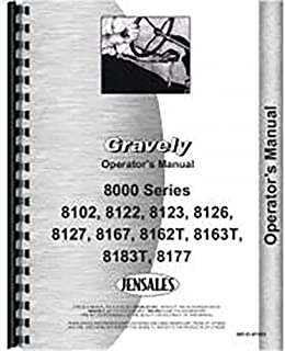 New Gravely 8123 Tractor Operators Manual