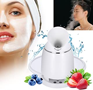 2 in 1 Facial Mask Machine + Facial Steamer, DIY Natural Fruit and Vegetable Mask in Pores Acne Remover(White)