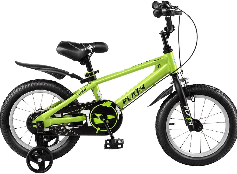 moda Great St. DGF Bicicletas para Niños 12141618 Pulgadas para Hombres Hombres Hombres y Mujeres Cochecito para bebés 3-12 años para Niños Bicicleta (Color   verde, Tamaño   12 Pulgadas)  hasta un 50% de descuento