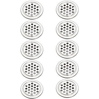 plateado BAODANH Rejilla de ventilaci/ón redonda de acero inoxidable de 4//4,7//8//10 pulgadas